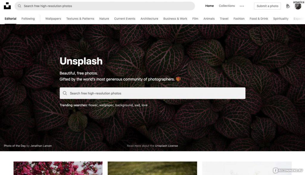 Unsplash for effective blogging
